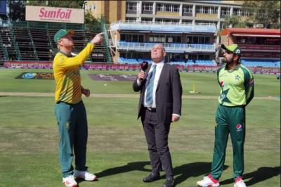 دوسرا ٹی ٹوئنٹی، پاکستان کا جنوبی افریقا کیخلاف ٹاس جیت کر بیٹنگ کا فیصلہ
