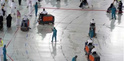 افطاری کے بعدمطاف کو صرف پانچ منٹ میں صاف کرنے کا ریکارڈ