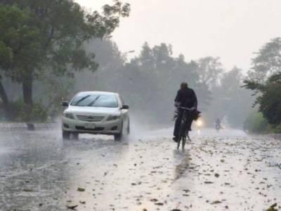 آئندہ 24 گھنٹوں کے دوران آندھی/تیز ہواوں اور گرج چمک کے ساتھ بارش کا امکان ہے، محکمہ موسمیات