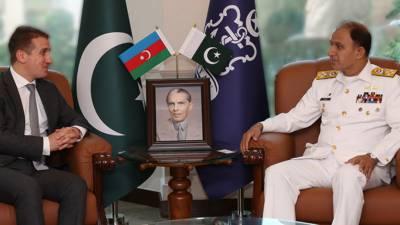 آذربائیجان کے سفیر علی علی زادہ کی اسلام آباد میں نیول چیف ایڈمرل محمد امجد خان نیازی سے ملاقات