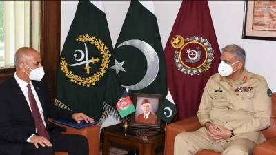 آرمی چیف سے افغان سفیر کی ملاقات،خطے کی سلامتی صورتحال پرگفتگو