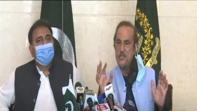 اسلام آباد:وزیر اطلاعات چوہدری فواد حسین اور ڈاکٹر بابر اعوان کی نیوز کانفرنس