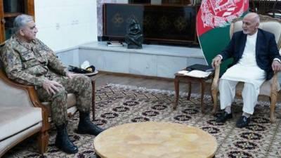 آرمی چیف جنرل قمر جاوید باجوہ کا دورہ کابل، افغان صدر اشرف غنی اورافغان مفاہمتی کونسل کے سربراہ عبداللہ عبداللہ سے ملاقاتیں