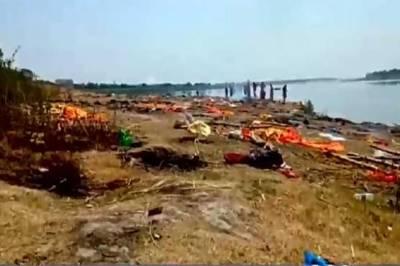 بھارت میں کورونا مریضوں کی لاشیں دریا سے برآمد، علاقے میں خوف و ہراس