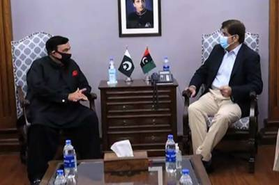 شیخ رشید کی وزیراعلیٰ سندھ سے ملاقات، امن و امان کی صورتحال پر بات چیت