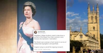 آکسفورڈ یونیورسٹی کے طلبا نے ملکہ برطانیہ کی تصویر ہٹانے کے حق میں ووٹ دیدیا