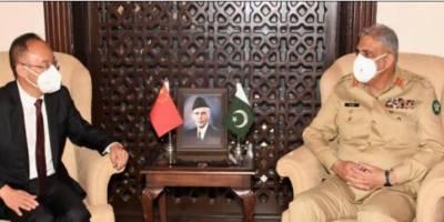 چینی سفیر کی آرمی چیف سے ملاقات، چین پاکستان اقتصادی راہداری میں پیشرفت اور علاقائی سلامتی کی صورتحال پر تبادلہ خیال