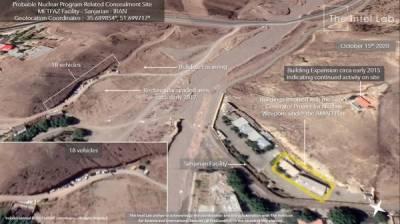 سیٹلائٹ تصاویر میں ایران کے جوہری مقام پر مشکوک سرگرمیاں ظاہر