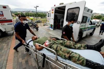 کولمبیا ، فوجی اڈے میں کار بم دھماکہ، 36 افراد زخمی