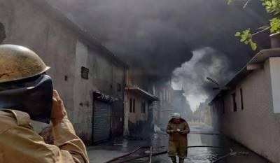 بھارت،جوتوں کے کارخانہ میں آتشزدگی ،6افرادلاپتہ