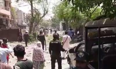 لاہور کے علاقے جوہر ٹاون میں دھماکا، 7 افراد زخمی، ہسپتال منتقل