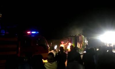 ننکانہ صاحب: مسافر بس الٹنے سے 42 افراد زخمی