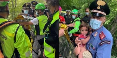 اکیس ماہ کا اطالوی بچہ دو راتوں بعد کھائی سے زندہ نکال لیا گیا