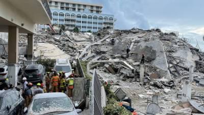 امریکا میں منزلہ عمارت گرنے سے اموات کی تعداد چارہوگئی،159افرادلاپتہ