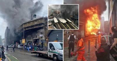 لندن،ریلوے اسٹیشن پر آگ لگ گئی، ایک شخص زخمی