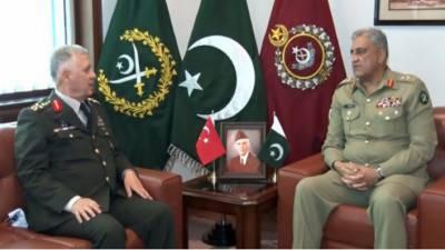 آرمی چیف سے کمانڈر ترک لینڈ فورسز کی ملاقات، باہمی دلچسپی، پیشہ ورانہ امور پر تبادلہ خیال