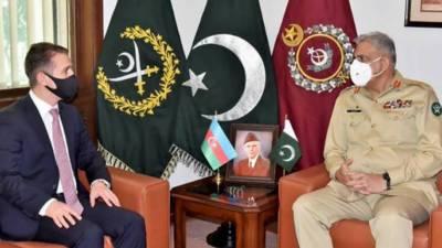 آرمی چیف سے آذربائیجان کے سفیر کی الوداعی ملاقات, ملاقات میں باہمی دلچسپی، خطے کی سکیورٹی صورت حال پر تبادلہ خیال