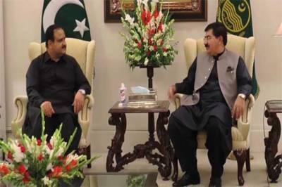 وزیراعلیٰ پنجاب سے چیئرمین سینیٹ صادق سنجرانی کی ملاقات