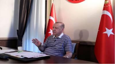 ترک قبرص کی حیثیت تسلیم کرانےکیلئےتمام ممکنہ کوششیں کرینگے:طیب اردوان