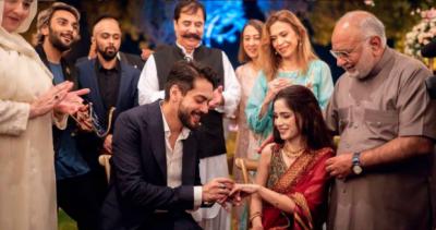 اداکارشہباز شگری اور گلوکارہ آئمہ بیگ نے باضابطہ طور پر منگنی کرلی