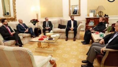 لندن، نوازشریف سے افغان سلامتی امور کے مشیر اور وزیر مملکت کی ملاقات