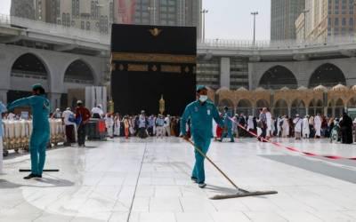 حج کے اختتام پر مسجد حرام کی صفائی پر چار ہزار رضا کار مامور