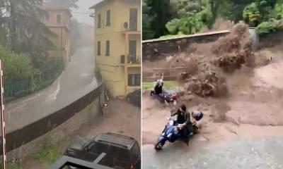 اٹلی ، شدید بارشیں، لینڈ سلائیڈنگ ،معمولات زندگی متاثر