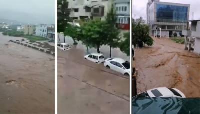 اسلام آباد میں طوفانی بارش، گھر میں پانی داخل ہونے سے ماں بیٹا جاں بحق