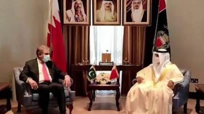 پاکستان اور بحرین کے مابین یکساں مذہبی، ثقافتی اور تاریخی اقدار کی بنیاد پر استوار گہرے برادرانہ مراسم ہیں۔وزیر خارجہ شاہ محمود قریشی