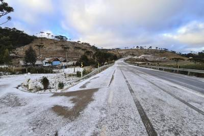 برازیل کے مختلف علاقوں میں برفباری