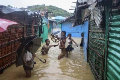 بنگلہ دیش، شدید بارشوں نےروہنگیا مہاجرین کے کیمپوں میں تباہی مچادی ،اقو ام متحدہ