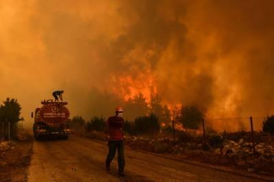 بحیرہ روم کے جنگلات میں لگی آگ ترکی کے بعد اٹلی اوریونان تک پھیل گئی