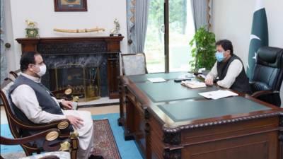 وزیرِ اعظم عمران خان سے وزیرِ اعلی پنجاب سردار عثمان بزدار کی ملاقات