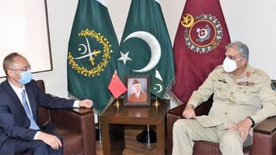 آرمی چیف سے چینی سفیر کی ملاقات، ڈی جی آئی ایس آئی بھی شریک
