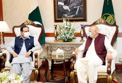 گورنر پنجاب سے وزیر اعلیٰ عثمان بزدار کی ملاقات