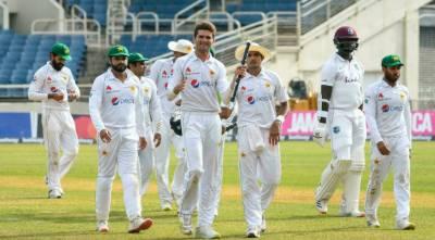 آخری ٹیسٹ:شاہین کی دس وکٹیں، پاکستان نے ویسٹ انڈیز کو شکست دیکر سیریز برابر کر دی
