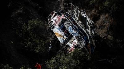 پیرو میں مسافر بس کے کھائی میں گرنے سے 29 افراد ہلاک، متعدد زخمی