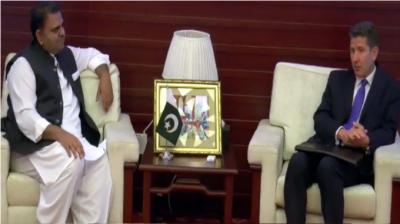 برطانوی ہائی کمشنر ڈاکٹر کرسچن ٹرنر کی وزیر اطلاعات سے ملاقات ، اہم امور پر تبادلہ خیال