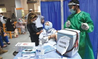 پاکستان میں کورونا ویکسین لگوانے والوں کی تعداد 7 کروڑ سے تجاوز کر گئی