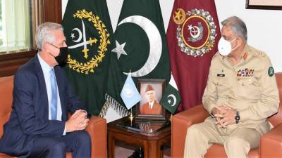 آرمی چیف سے اقوام متحدہ کے ہائی کمشنر برائے مہاجرین کی ملاقات، افغانستان کی صورتحال پر تبادلہ خیال