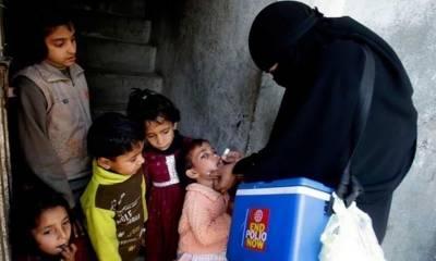 بچوں کو پولیو کے قطرے پلانے کی ملک گیر مہم کا آج سے آغاز