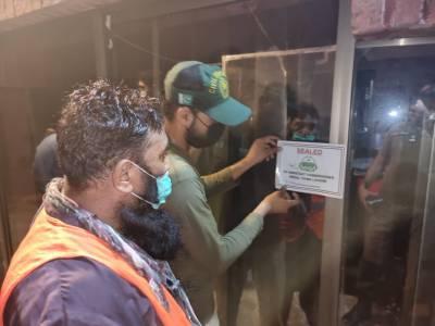 کورونا ایس او پیز کی خلاف ورزی، لاہور کے 16 ریسٹورنٹ اور شادی ہال سیل