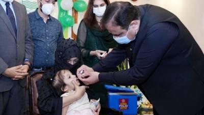 پنجاب میں انسداد پولیو کی 5 روزہ مہم کا باقاعدہ آغاز،وزیراعلیٰ نے بچوں کو انسداد پولیو ویکسین پلا کر مہم کا آغاز کیا