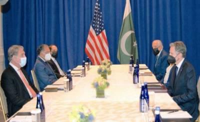 شاہ محمود قریشی کی امریکی ہم منصب سے ملاقات، افغانستان کی صورتحال پر گفتگو