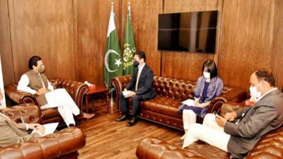 وفا قی وزیر برائے آبی وسائل مونس الٰہی سے جائیکا (JICA) پاکستان کے چیف نمائندہ کی ملاقات