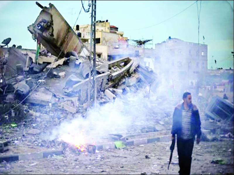 غزہ: اسرائیلی بمباری سے حماس کا سرکاری ہیڈ کوارٹر تباہ' مزید 17 شہید