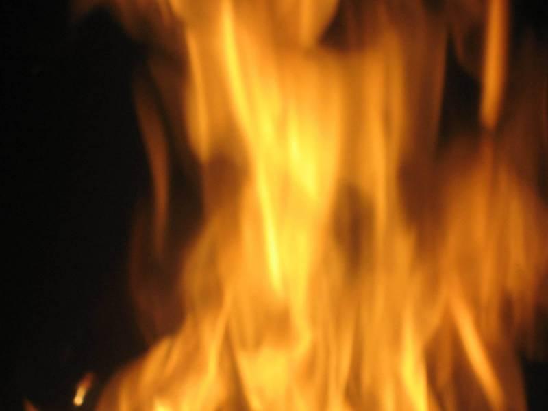بنک میں آتشزدگی' لاکھوں کا سامان جل گیا