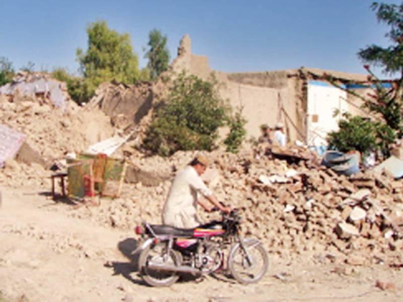 میرانشاہ: فضائی حملے میں تباہ ہونیوالی ایک عمارت