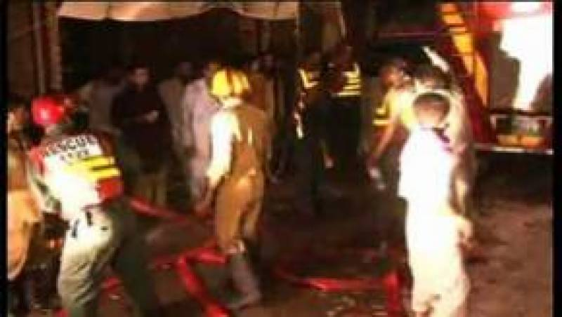 گھر اور جنرل سٹور میں آتشزدگی' لاکوں کا سامان تباہ