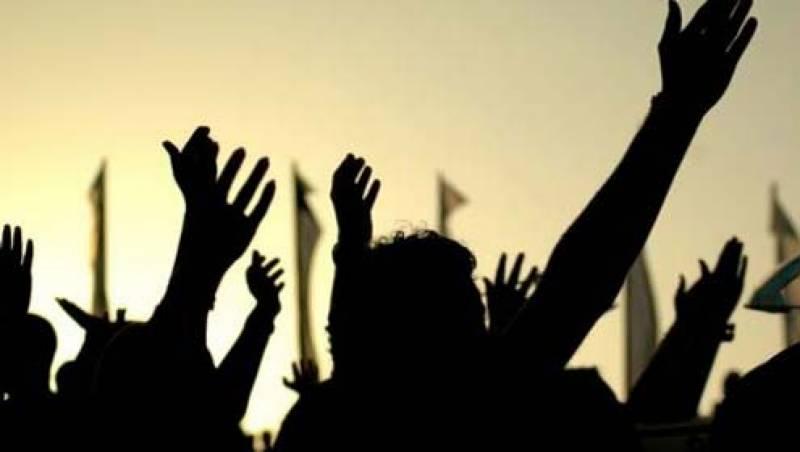نعلین پاک کی عدم بازیابی پر ورلڈ پاسبان ختم نبوت کا احتجاجی مظاہرہ